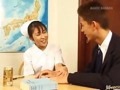 Mako Mochizuki in some wild nurse rocking sex tube porn video