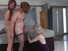 trio crossdressers tube porn video