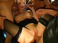 German Pussy Bukkake and Anal Gangbang tube porn video