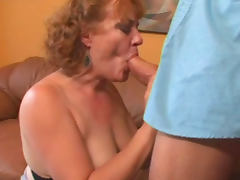 Mature Tierece Saulrine is sucking cock like a pro tube porn video