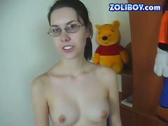 Slim Brunette Sucks On A Hard Dick tube porn video