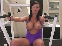 Big Boobed Beauties Working Out and Doing Aerobics in the Gym tube porn video