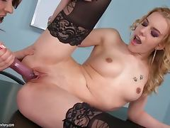 Bewitching doll Cindy Hope with tattoo likes to lick her cuties vagina tube porn video