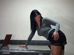 Busty Secretary tube porn video