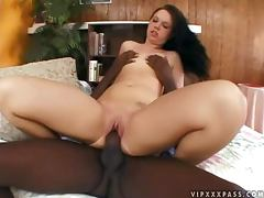 Hot Lindsay Kay gets fucked and facialed in interracial video tube porn video