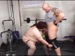 BBw fuck in the gym tube porn video