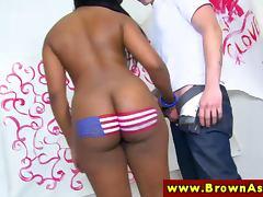 Black ebony with big booty sucks dick tube porn video