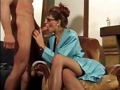 Sex hungry French mature babe rides huge dick in anal scene tube porn video