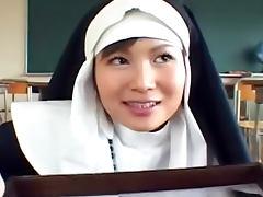 Pretty Asian nun is swallowing loads of jizz tube porn video