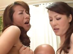 Busty Japanese Moms and their sons tube porn video