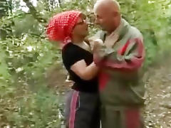 Wild granny fucking in the woods tube porn video