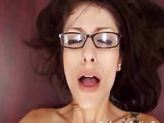 Nerd Vivian in glasses assfucked tube porn video