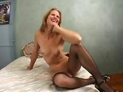 Two Cocks In Skinny Mature Dawndi's Cunt tube porn video