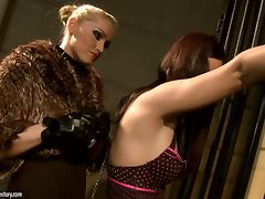 Sexy prisoner Ginna gets tortured and fucked by Kathia Nobili tube porn video