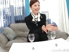 Hot Japanese stewardess gets her tight pussy fucked tube porn video