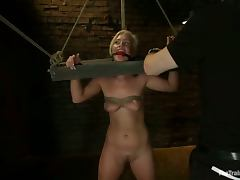 Tara Lynn Foxx the girl in the stocks gets toyed and fucked tube porn video