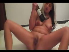 Brutal German fisting and wine bottles make her squirt tube porn video