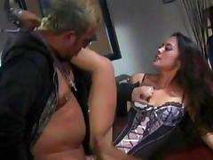 Brunette Kaylani Lei gives a gorgeous blowjob tube porn video