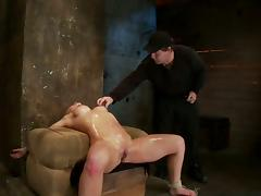 OIled up BDSM glory with a juicy blond chick Isis Love tube porn video