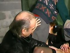 French redhead sucks 3 dudes tube porn video