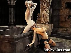 3D Zombie Fucks Lara Croft! tube porn video