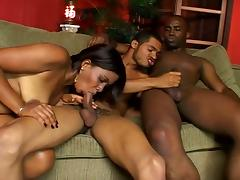 Big booty latin chick and two hunks tube porn video