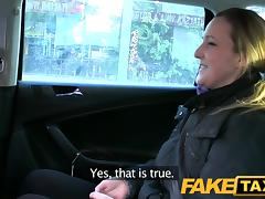 FakeTaxi: Disappointed professional in back seat anal tube porn video