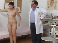 Hot Tarya King and old gynecologist tube porn video