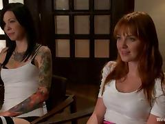Lorelei Lee teaches hot redhead Marie McCray a good lesson in BDSM vid tube porn video