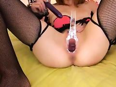 Gyno toys and peeing of her nasty cunt tube porn video
