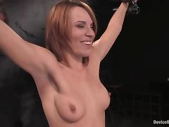Lewd slut Dana Dearmond gets hanged up in kinky BDSM clip tube porn video