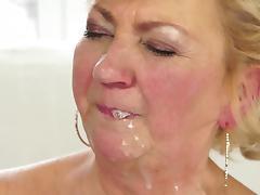 Fat granny bang with a bald fucker tube porn video