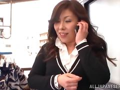 Japanese milf is going to enjoy a hard penis in her holes tube porn video