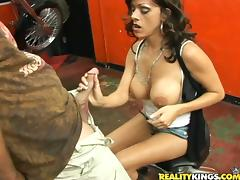 Smoking hot Arianna loves fast bikes and hard cocks tube porn video