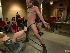 Public femdom BDSM with some smoking hot mistresses tube porn video