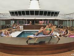 Sexy blonde Brooklyn Lee gets fucked in public on the poolside tube porn video
