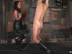 Lefty gets whipped and toyed in the ass by Sandra Romain tube porn video