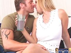 Big tittied Devon Lee enjoys rough pussy pounding in a bedroom tube porn video