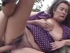 Agnes was fucked by Gabor on the grass tube porn video