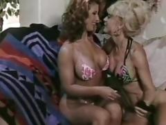Sexy flexible milfs are licking shaved pussies in retro scene tube porn video