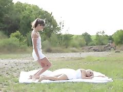 Nasty trio outdoor with Bella and Gina so sexy tube porn video