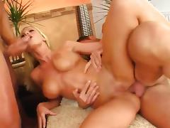 Busty bitch helen double fucked and screaming tube porn video