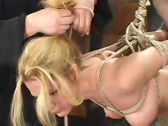 Flavourful blond siren Jenni Lee is secondary to pointed distress tube porn video