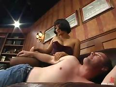 Horny Asian shake out Bogeyman Lily is beyond everything Jon's horseshit tube porn video
