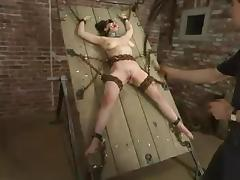 Chained Mallory Knots gets whipped and toyed adjacent to the aggravation tube porn video