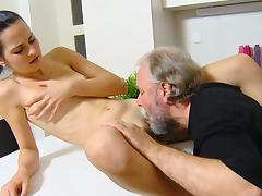 Lora was fucked by an old fucker tube porn video