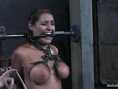 Charley Hunting undergoes some hot tortures at hand a basement tube porn video