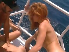 British slut Yvonne gets fucked on a yacht tube porn video
