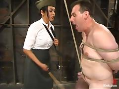 The hardest interrogations with a charming military bitch Mika Tan tube porn video