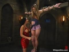Harmony gets crossed on the bars by Sandra Romain tube porn video